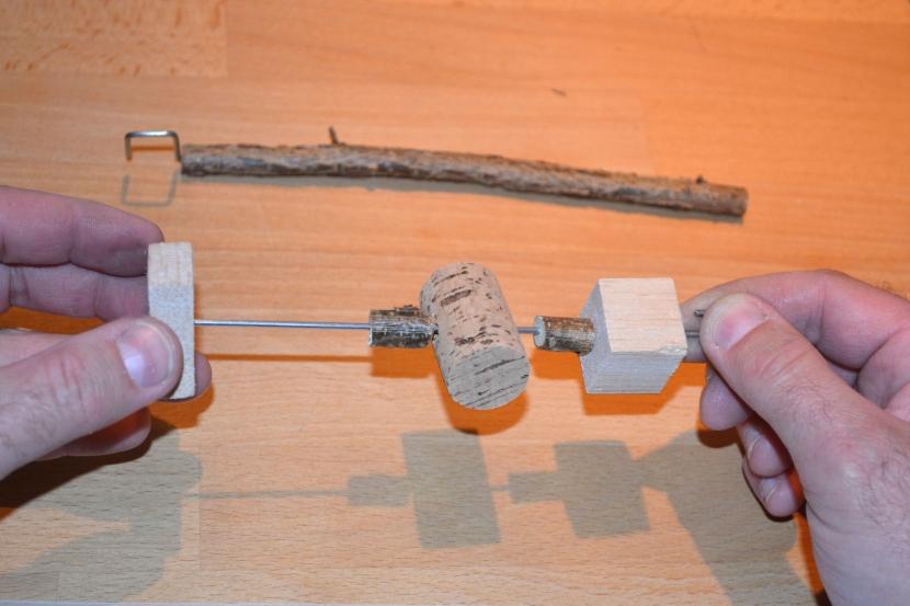 Auffädeln Schreddermaterial