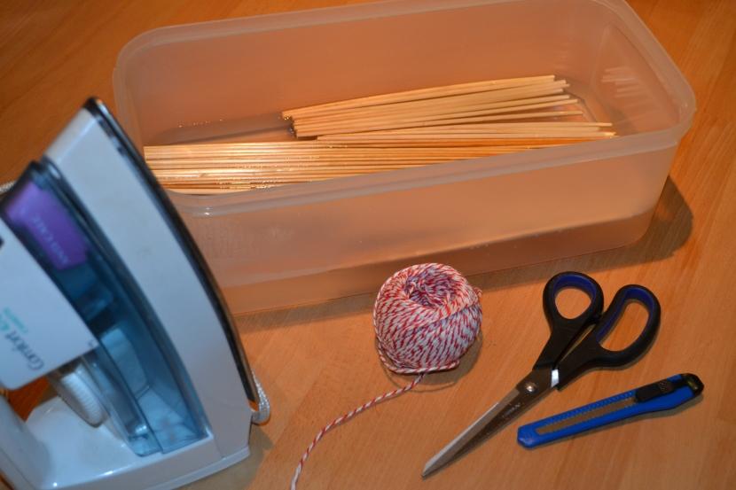 Strohstern Vorbereitung