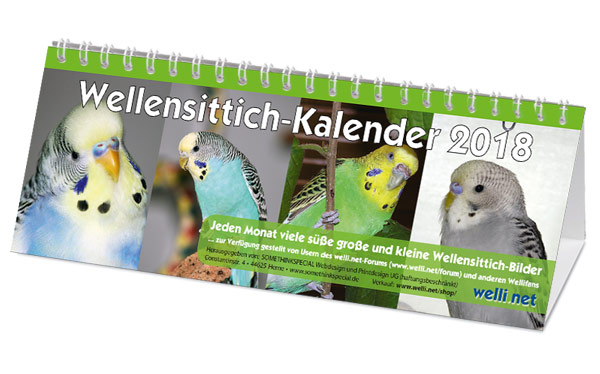 Wellensittich-Kalender 2018