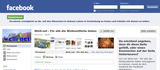 Welli.net bei Facebook