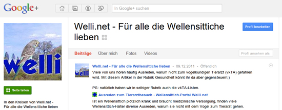 Welli.net bei Google Plus