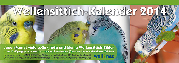 Wellensittich-Kalender 2014