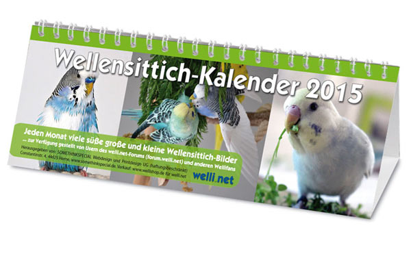 Wellensittich-Kalender 2015