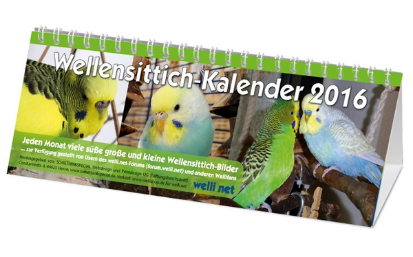 Wellensittich-Kalender 2016