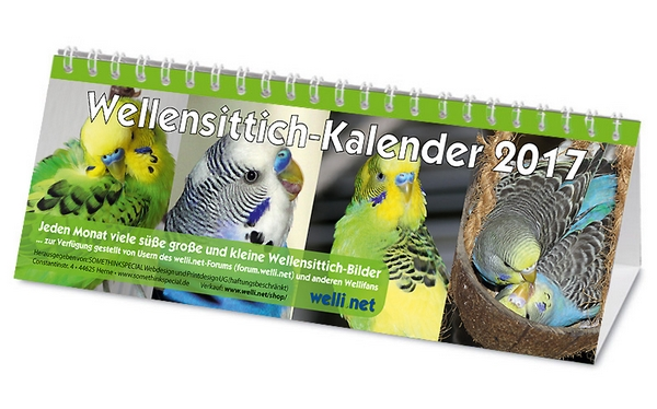 Wellensittich-Kalender 2017