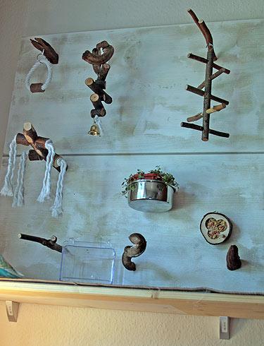 spielwand f r wellensittiche wellensittich portal. Black Bedroom Furniture Sets. Home Design Ideas